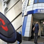 People wait outside a branch of the Royal Bank of Scotland (RBS) in central London on January 27, 2012. Britain's state-rescued Royal Bank of Scotland awarded its chief executive a bonus of 963,000 British pounds (1.50 million USD, 1.15 million euros) on January 26 despite pressure from the government to limit the payout. AFP PHOTO / CARL COURT (Photo credit should read CARL COURT/AFP/Getty Images)